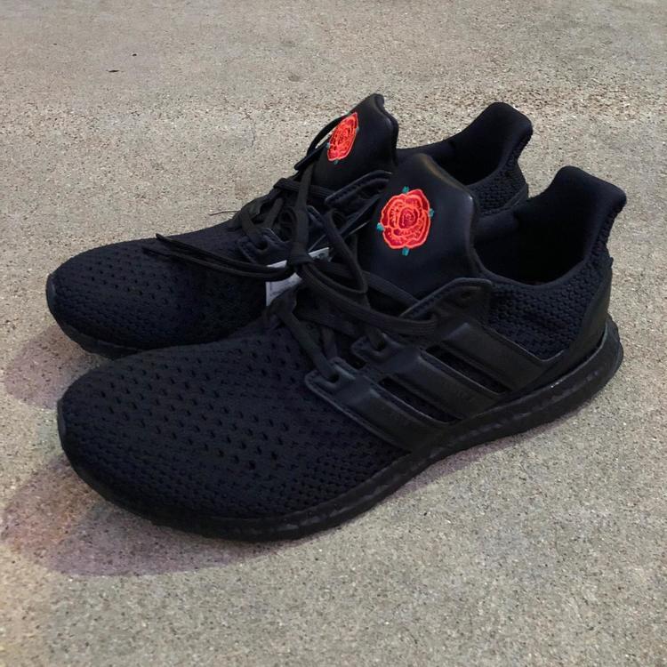 Manchester United Ultraboost Triple Black Clima Shoes Sz 10