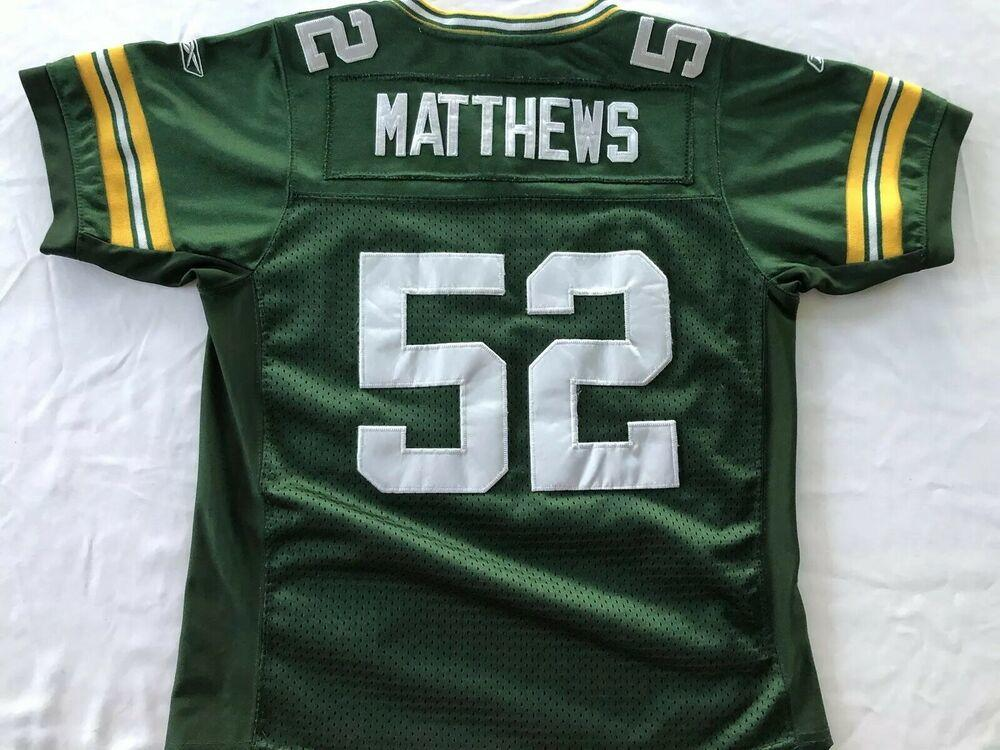 Clay Matthews Green Bay Packers Jersey Stiched Youth Size Small 10 ...