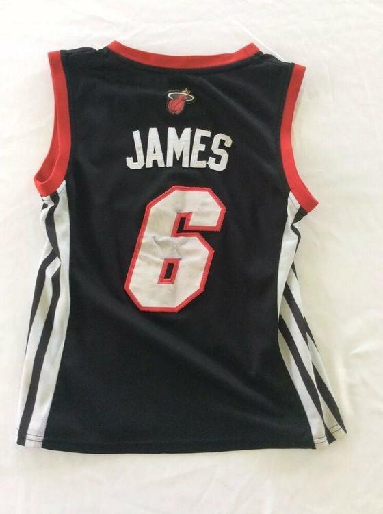 Lebron James Jersey Youth Size S Miami Heat Adidas Box A