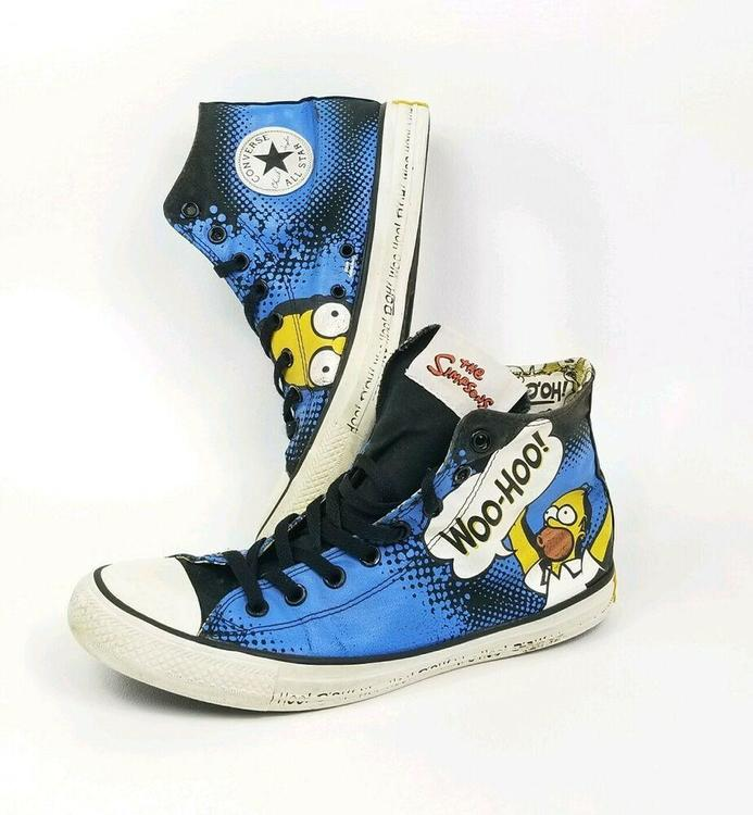 Converse All Star Chuck Taylor The Simpsons Homer Simpson Shoes Mens Sz 9 Wmn 11