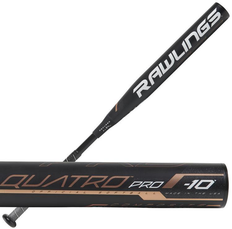 """Rawlings 2019 Quatro Pro Fast Pitch Softball Bat 32/""""//22oz"""