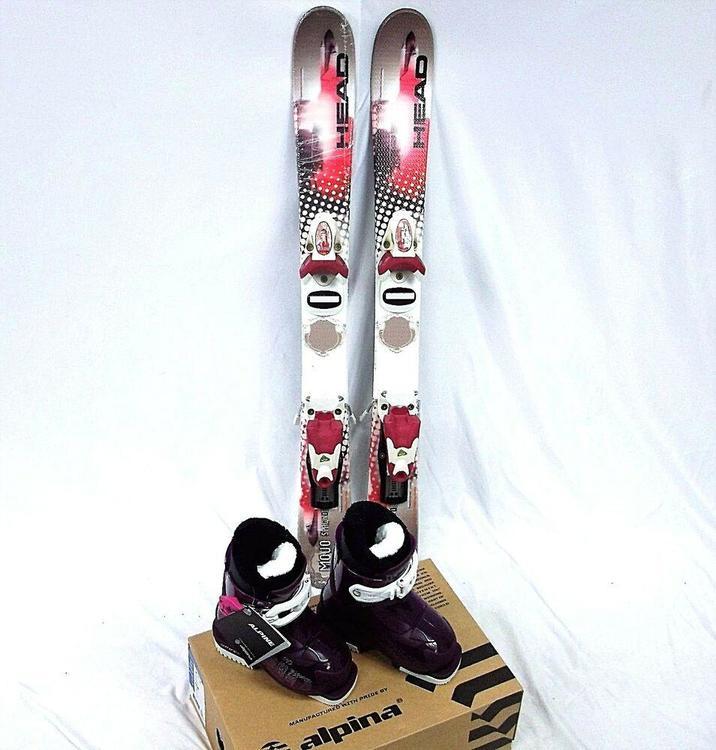 HEAD Girls Ski Package, 87cm Mojo Spawn III , Roxy