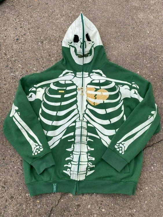 Lrg Dead Serious Hoodie 3xl Rare Skeleton Glow In The Dark Lifted