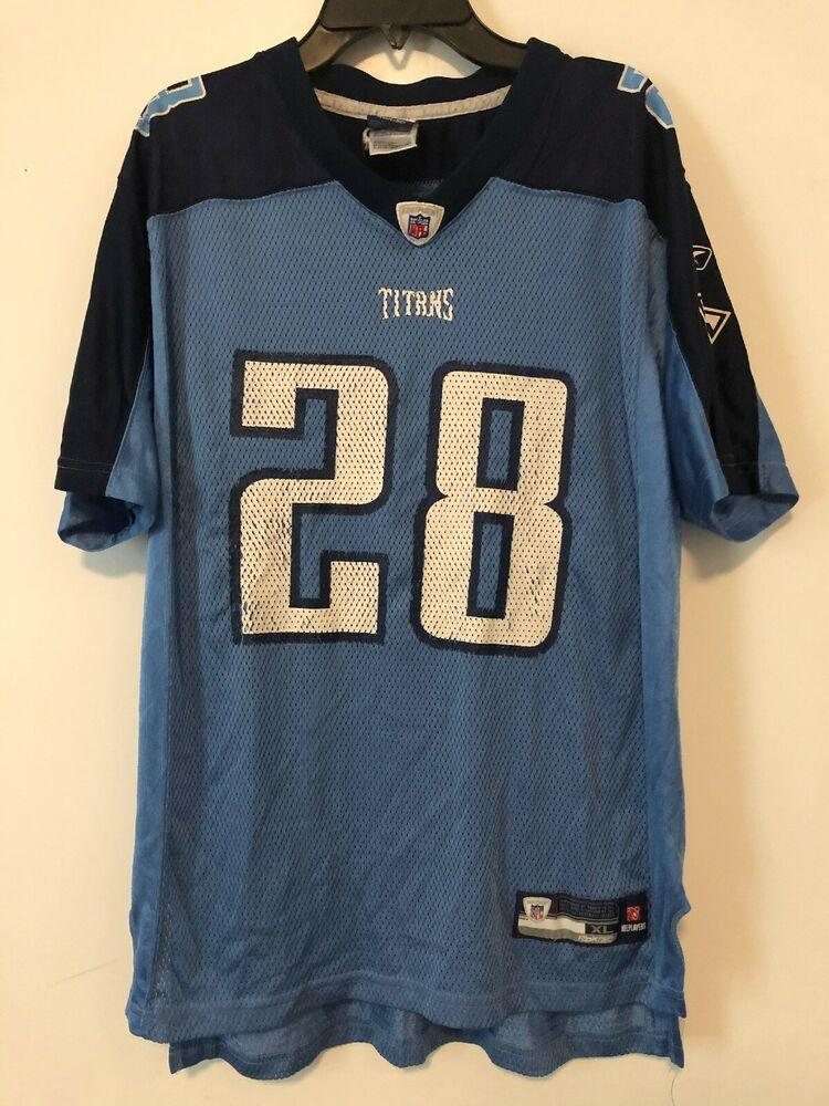 Reebok Tennessee Titans Jersey Size Youth XL Chris Johnson Home ...