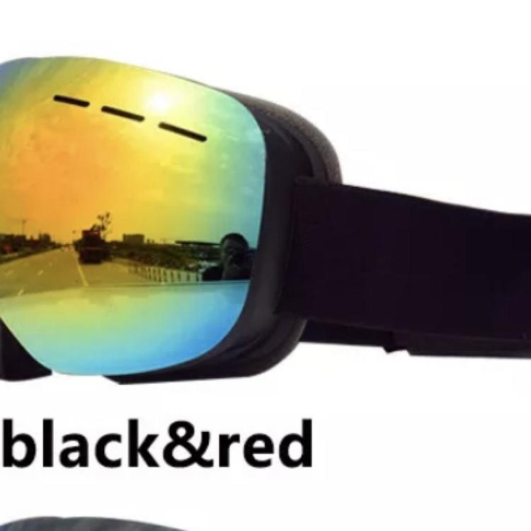 Red Unisex Snowboard Large Snowboarding Goggles
