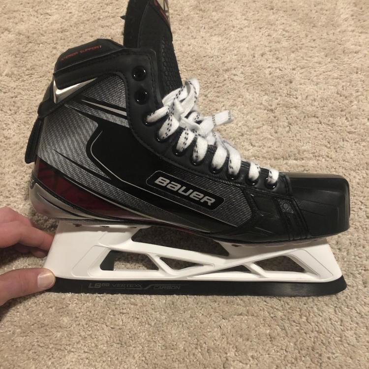 New Senior Bauer Vapor 2X Pro Hockey Goalie Skates D&R (Regular) Pro Stock  Size 10