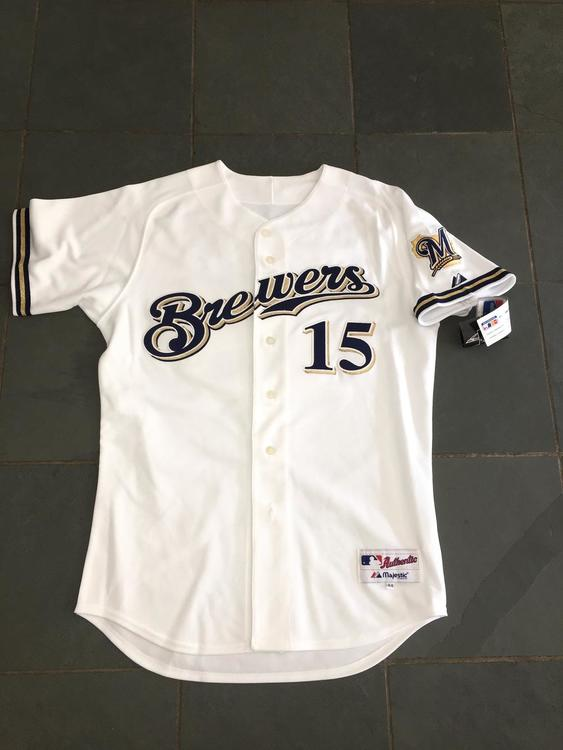 Adult Milwaukee Brewers White Home Jersey w//Tags  Size L