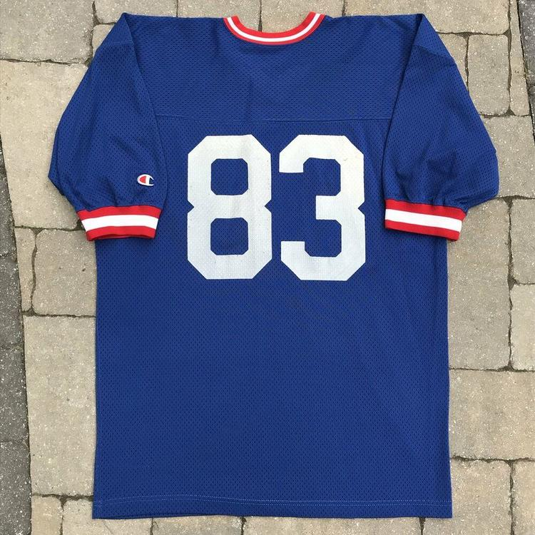 Vintage Andre Reed Buffalo Bills Jersey Mens XL NFL Champion Authentic Blue #83 | SidelineSwap