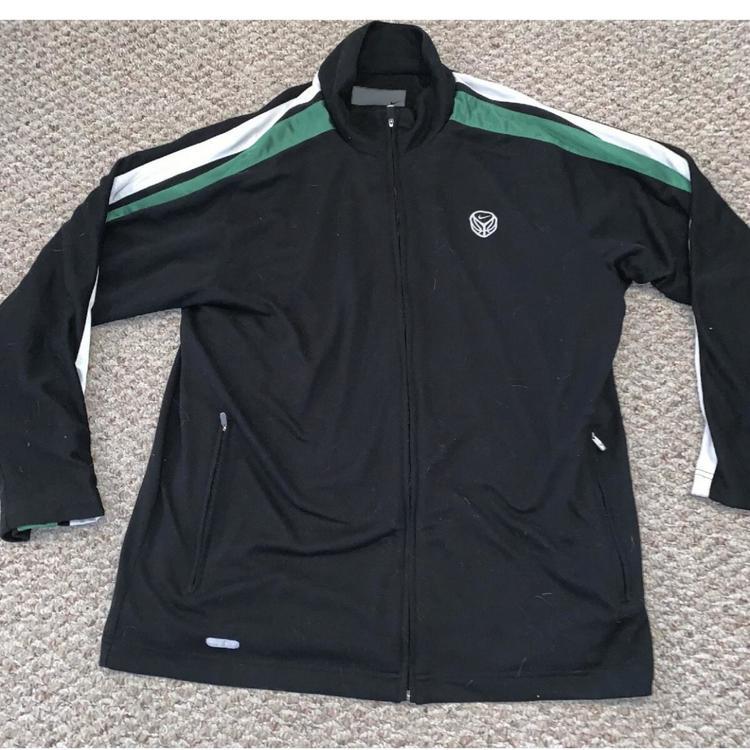 documental áspero tsunami  Nike Men's Running Dri-Fit Black Green White Black Zip Fleece ...