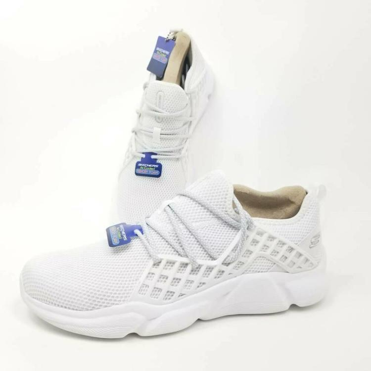 Skechers Mens Sz 10 Drafter Havenedge Walking Shoes White Air Cooled 52943 New
