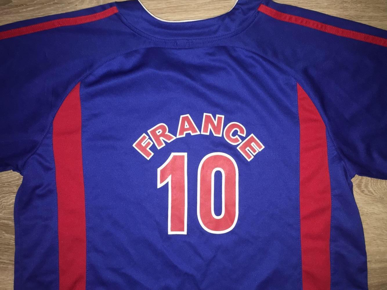 Large Zinedine Zidane France National Team Jersey Soccer Apparel Jerseys