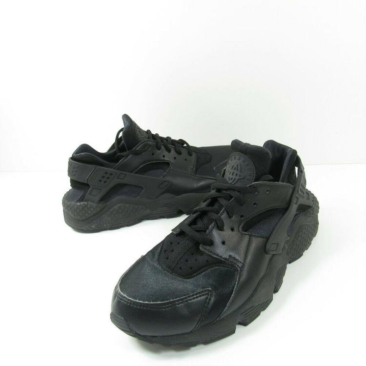 Nike Air Huarache Run Womens 634835-012 Black Running Training Shoes Size 8.5