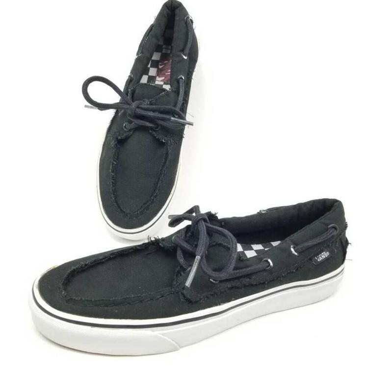 black vans boat shoes