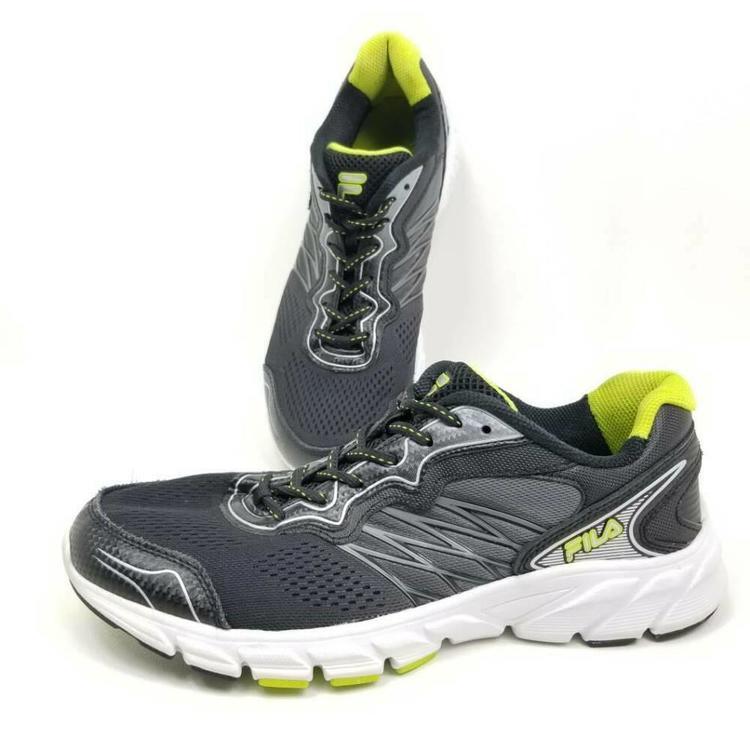 FILA Mens 9.5 Running Shoes Indus Cool Max Black Green 2015 Low Top 1SR20883 409