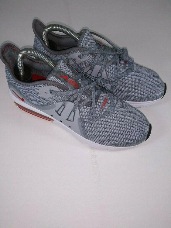 best choice best shoes better Nike Air Max Sequent 3 GS Youth Running Shoe 6Y Gray Grey Red ...