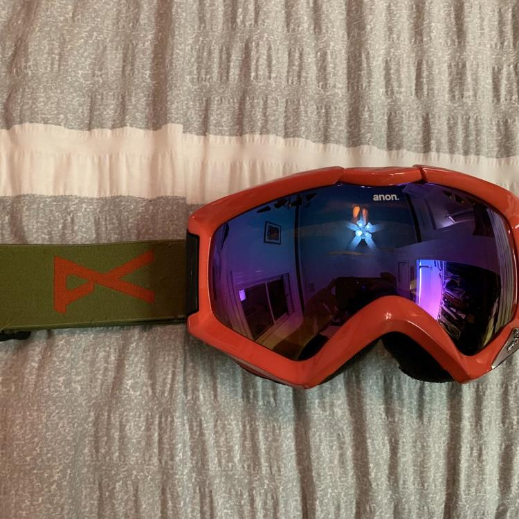 Anon Red Realm Snowboard Snowboarding Goggles Sidelineswap
