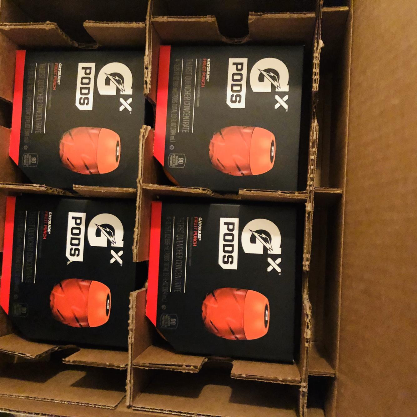 Gatorade GX Pods Fruit Punch 4-Pack 4 Pods Total Same Day Shipping