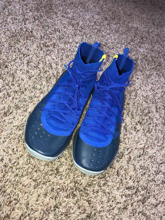 blue under armour shoes