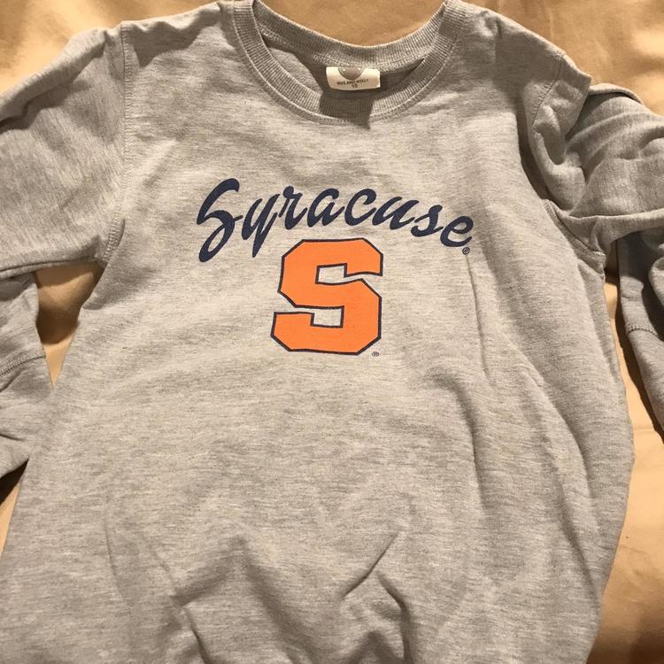Gray Men S Youth 10 Large Syracuse Sweatshirt