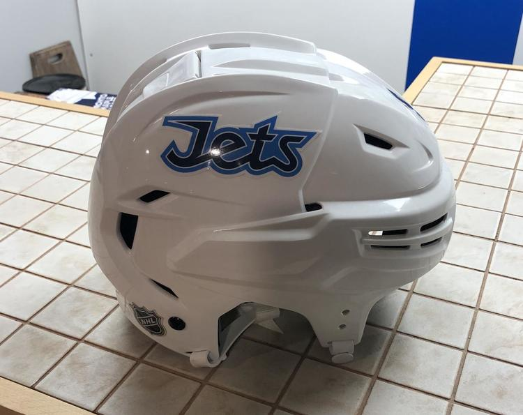 Bauer Winnipeg Jets White Medium Re Akt Pro Vn Helmet Pro Stock Hockey Helmets