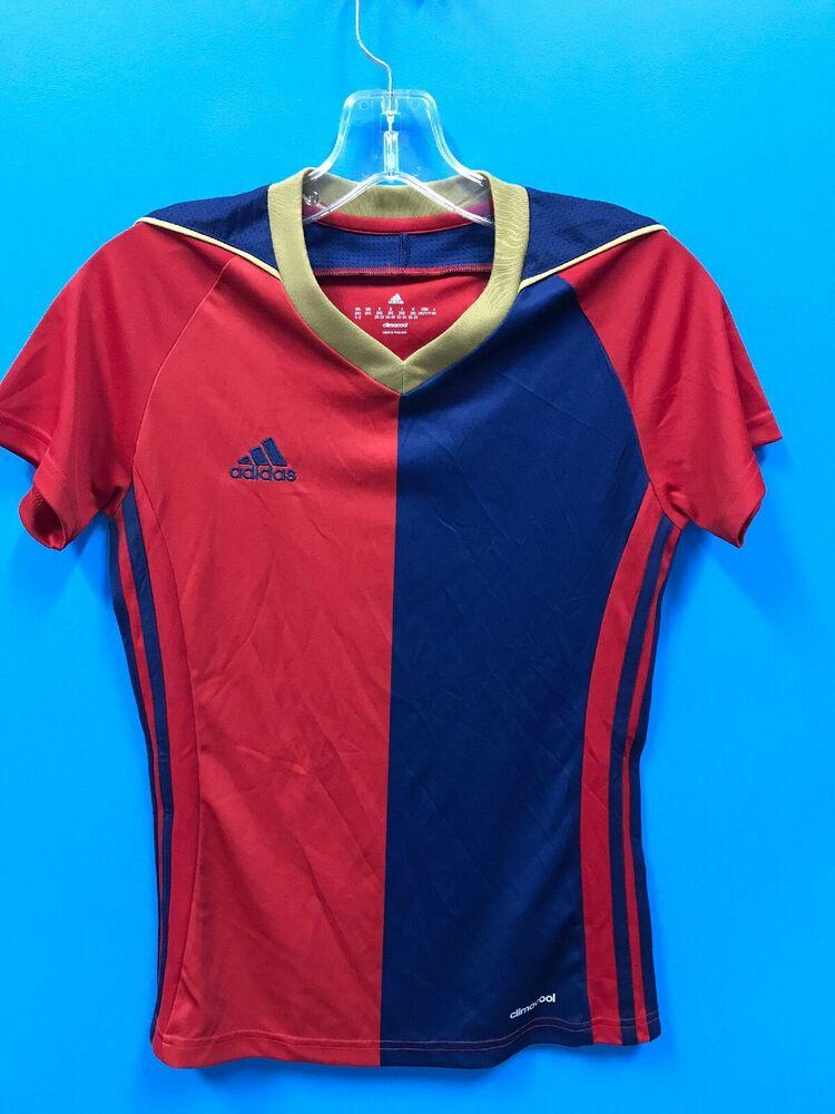 NEW Adidas Women's Climacool Soccer Jersey Color Red Blue Gold ...