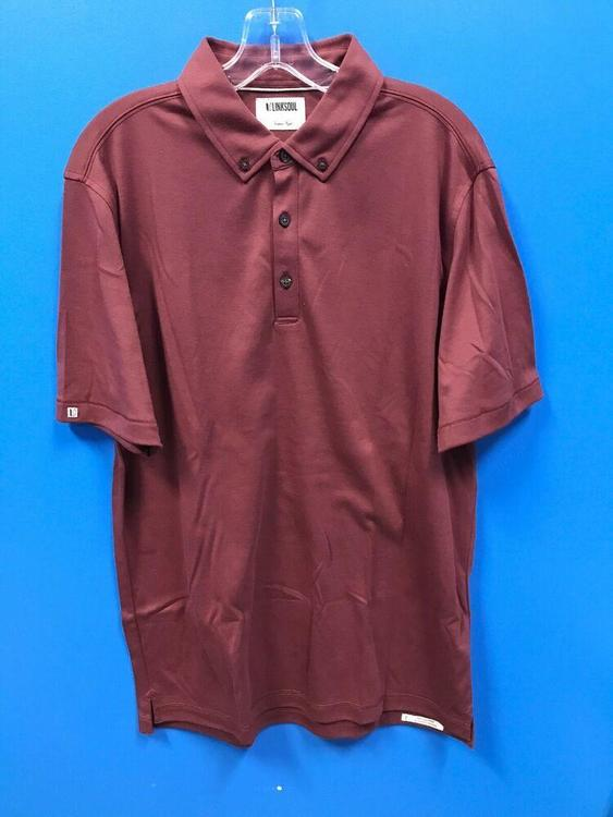 NEW Linksoul Men's Golf Polo Shirt Color Redwood Size L Large *FIRM PRICE*