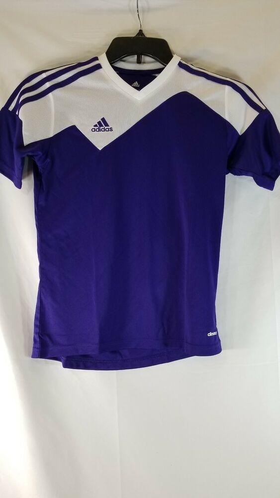 Adidas Purple Soccer Jersey Shirt Youth medium NEW *FIRM PRICE*