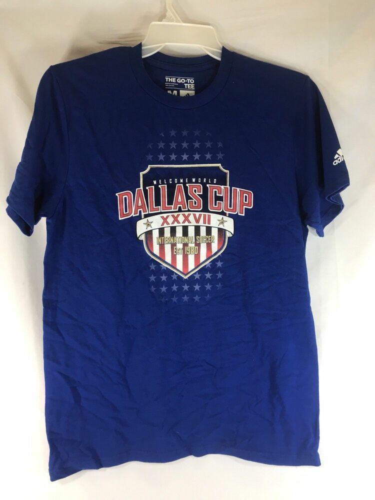 Texas Dallas Cup XXXVII Soccer T Shirt Gray Mens Small
