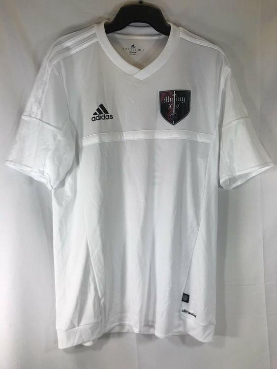 Adidas Mutiny #21 MLS Match Soccer Jersey Athletic Shirt White Mens - Medium Firm Price
