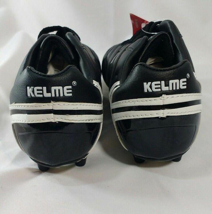 Kelme Ultra Jr Size 11.5 Black White Soccer Cleats Shoes