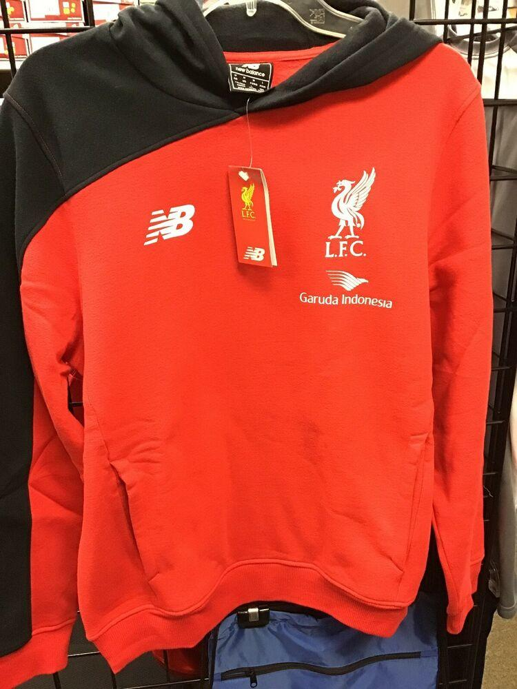 New Balance Nwt Liverpool Fc Soccer Hoodie Red Black Size Medium New Firm Price Apparel Sweatshirts Hoodies