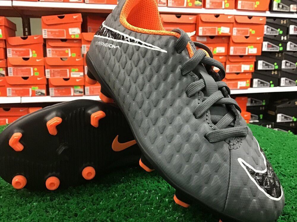Nike Jr Phantom 3 Club FG Cleats Grey