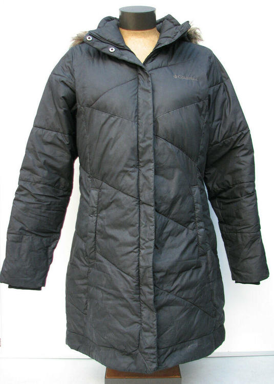 Columbia Women's Black Faux Fur Hooded Puffer Coat Jacket Parka Size.Medium M