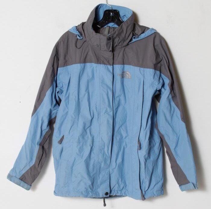 The North Face Hyvent Women S Blue Gray Skiing Snowboard Shell Jacket Small S Apparel Jackets Coats