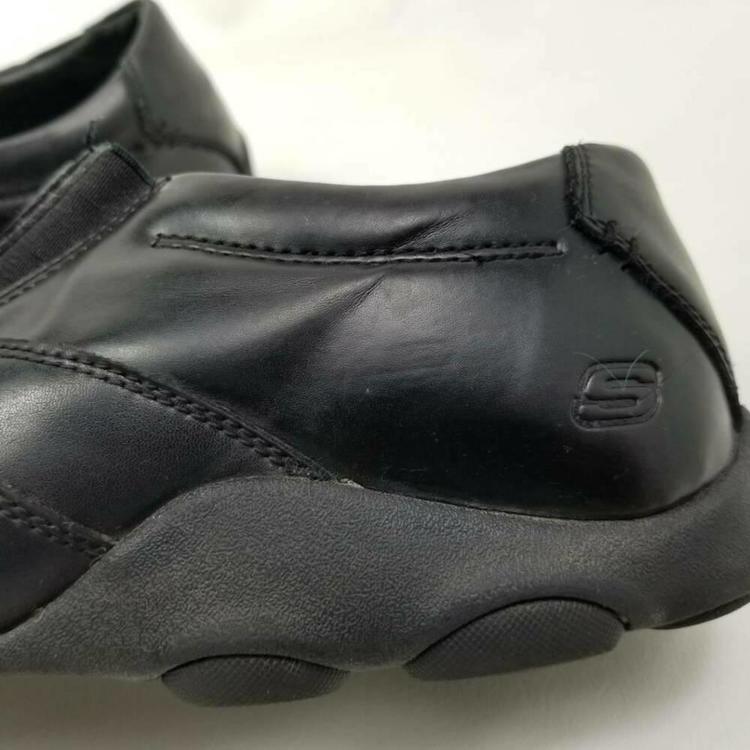 Skechers Mens 14 Loafer Shoes Black Memory Foam Bicycle Toe Leather Slip Ons Skor Turfs, inomhus, sneakers & träningSidelineSwap Skor Turfs, inomhus, sneakers & träning SidelineSwap