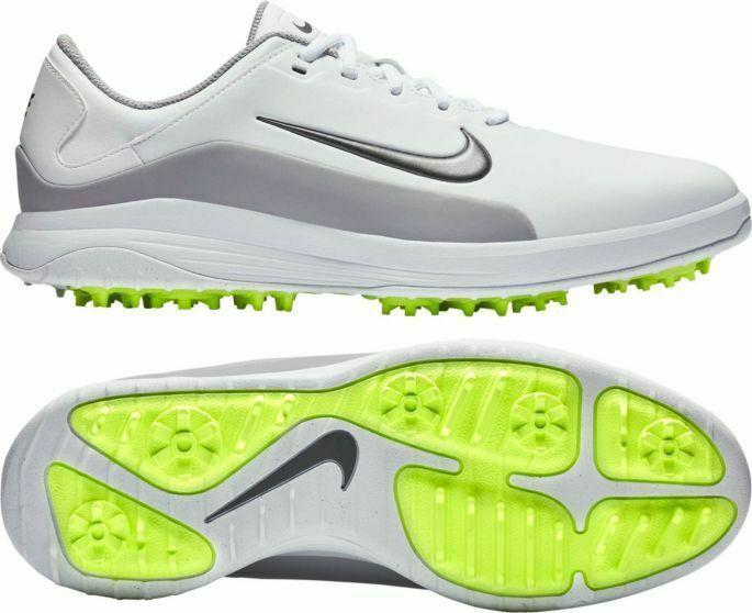Nike New 70 Vapor Mens Sz 9 Aq2302 101 White Grey Volt Golf Shoes
