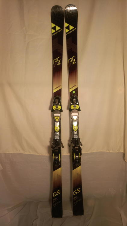 Fischer 2018 RC4 Worldcup GS Junior Curve Booster Skis w// RC4 Z13 Bindings