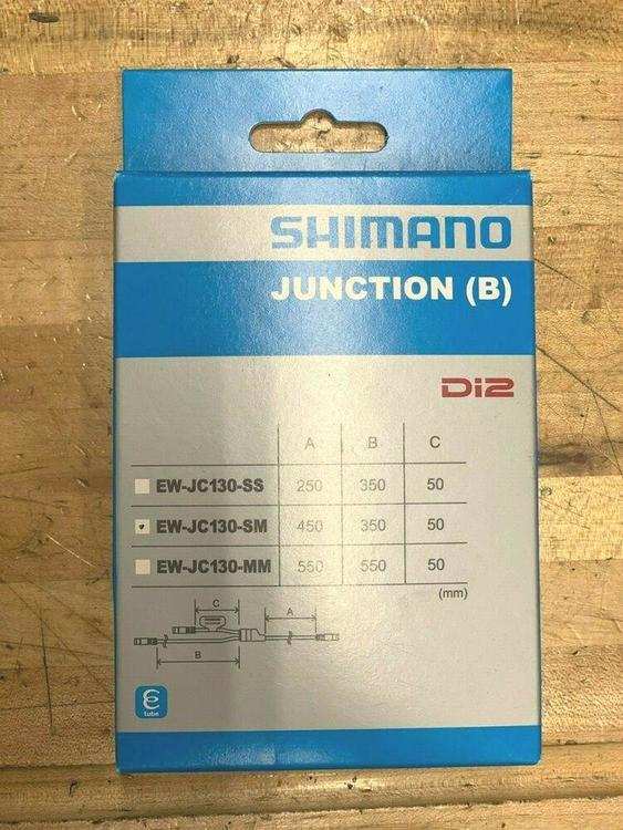 Shimano EW-JC130SM Y-Split Rooting Electric Wire 450//350//50mm for Di2