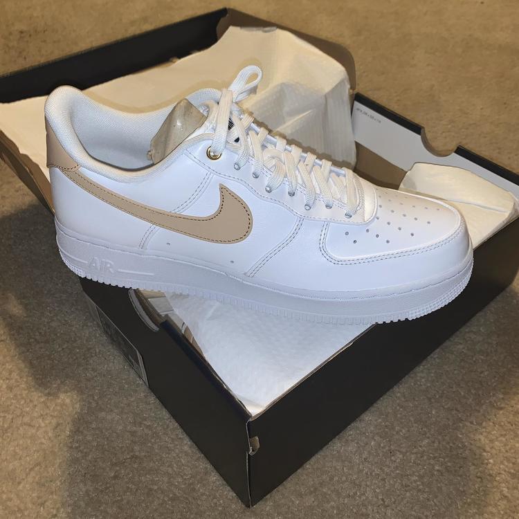 Nike Air Force 1 Low White Vachetta Tan Sz 10 CU6675 100