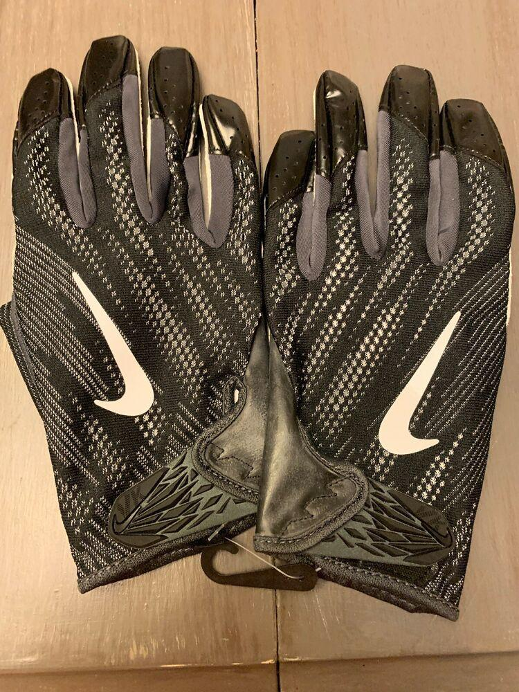 WR//QB//RB Football Gloves Black//Gray 2XL New Schutt DNA Red