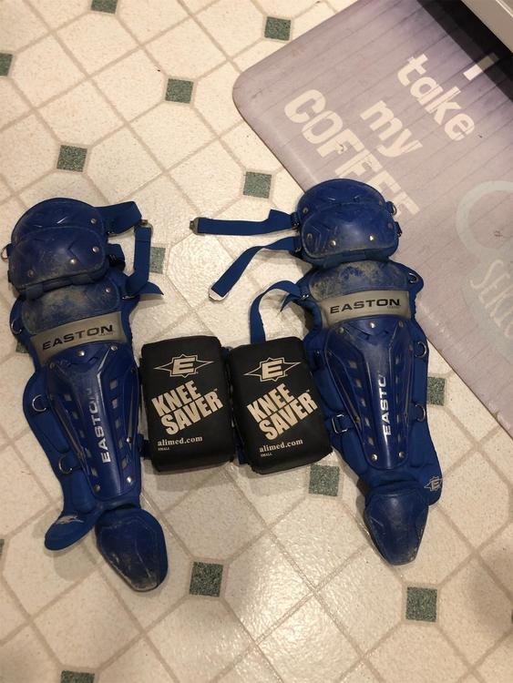 Team Sports Blue Large Easton Knee Saver Botosoft Com