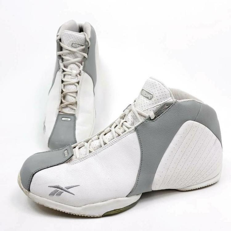 Reebok Mens Size 15 Basketball Shoes White Color Block High Top 177876 EU 50