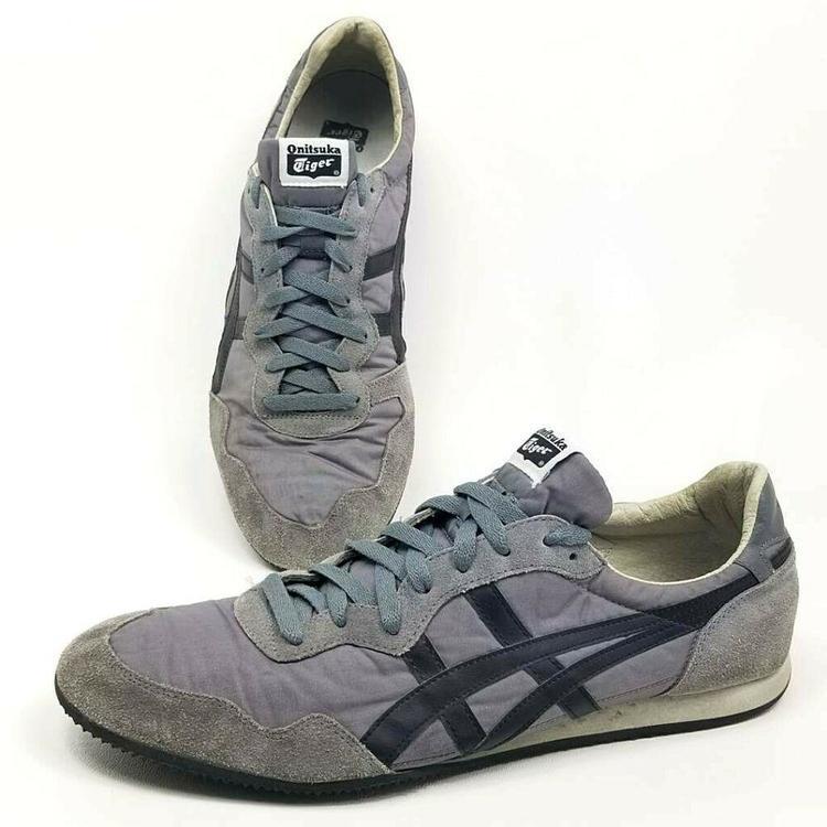 Asics Onitsuka Tiger Mens 13 Serrano D109L Running Shoes Gray Lace Up EUR 48