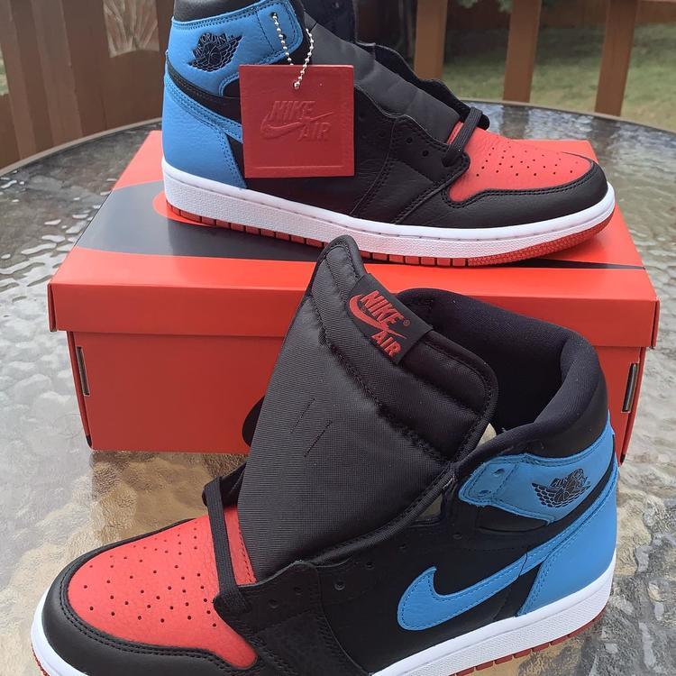 Air Jordan Nike 1 High Og Wmns Unc To Chicago Cd0461 046 Sz W 9