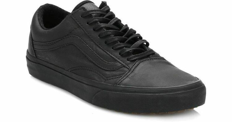 Get - mens black leather old skool vans