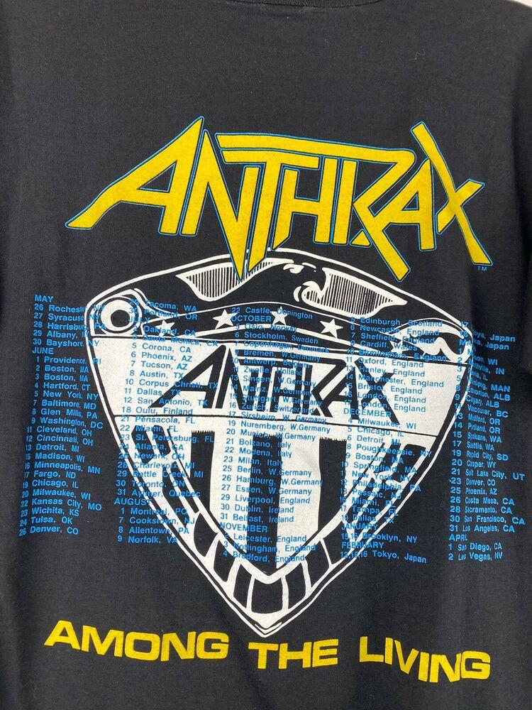 Vtg Anthrax Mosh It Up T Shirt S M Slayer Iron Maiden Judas Priest Metallica Apparel Shirts We do this with marketing and advertising partners (who may have their own information they've collected). vtg anthrax mosh it up t shirt s m