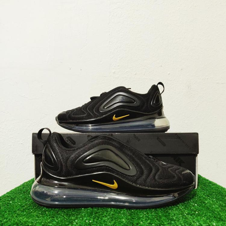 Nike Air Max 720 Black Gold Women's Running Shoes CT2548-001 Size 6