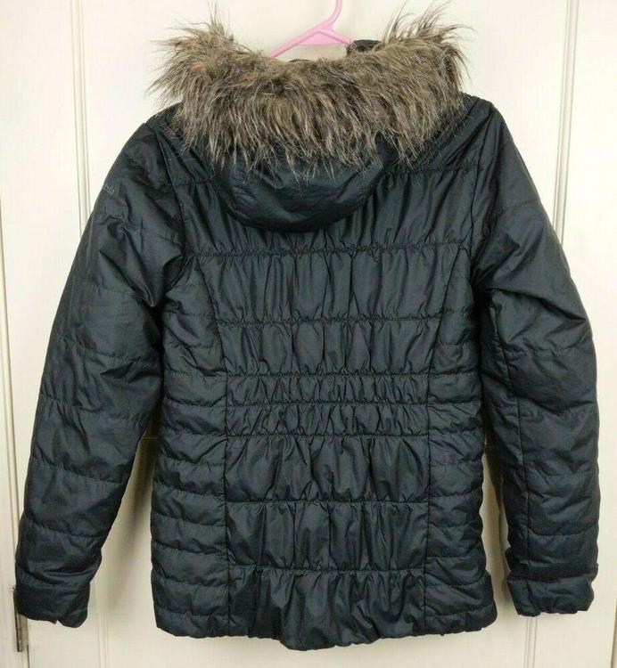 Columbia Thermal Coil Black Quilted Puffer Jacket Fur Hood Women's Size: S Tøjjakker & frakkerSidelineSwap Tøjjakker & frakker SidelineSwap