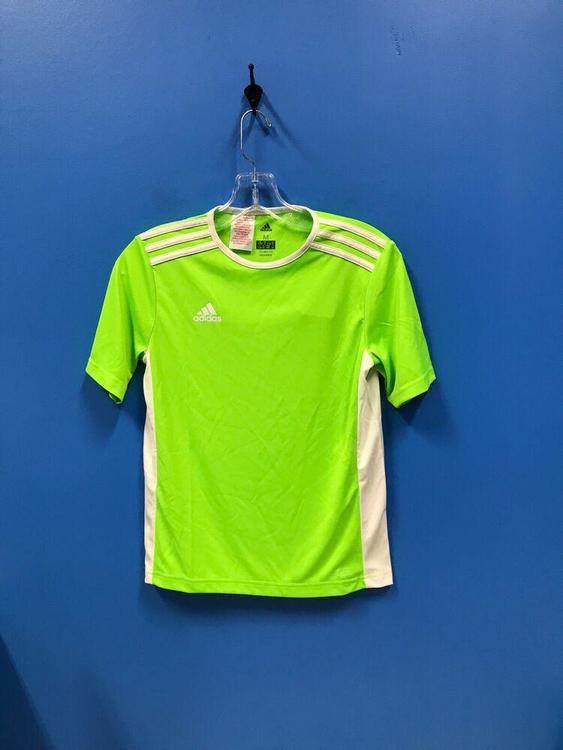 NEW Adidas 100% Polyester Climalite Youth Soccer Jersey Color Green White Size M *FIRM PRICE*   SidelineSwap
