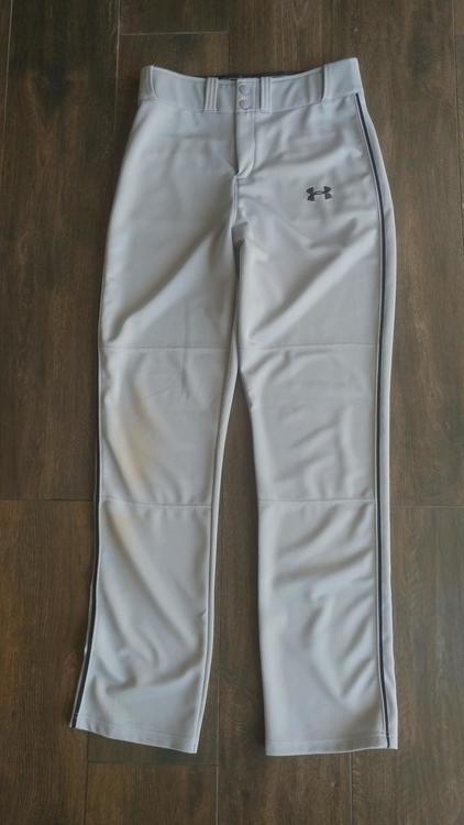 basura Seminario Comprimir  Under Armour Used Men's Small Pants, Gray with Black strip   Baseball  Apparel & Jerseys